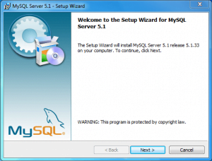 installing and configuring mysql 1