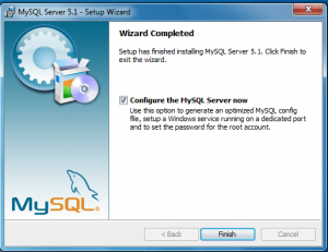 installing and configuring mysql 7