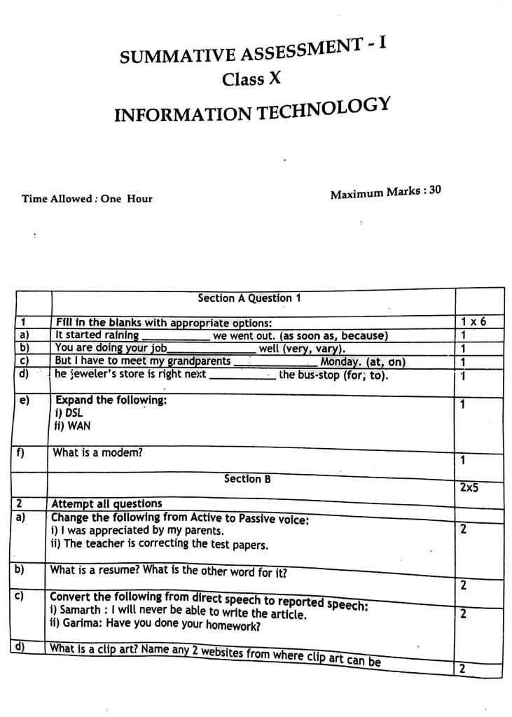 Nsqfnvqf previous year question paper of information technology nsqfnvqf previous year question paper of information technology 402462 second term sa 2 class 10 malvernweather Images