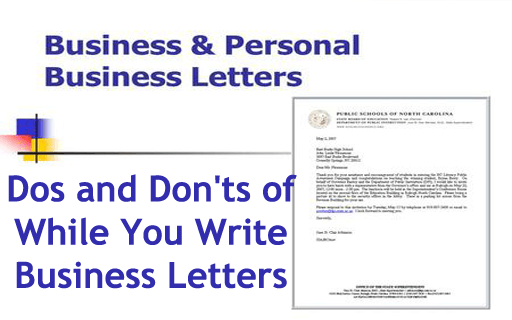 Dos And Donu0027ts Of While You Write Business Letters